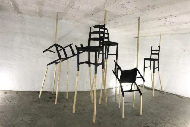 Expositie / Exhibition Rudie van den Berg in EXbunker tentoonstelling ruimte / art space Utrecht.